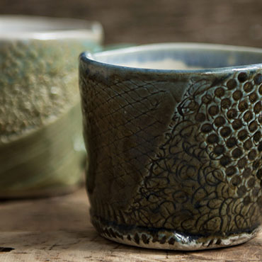 Image of two pottery cups - Thumbnail image